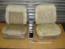 64 Cadillac Coupe Deville Conv. Power Bucket Seats W/ Tracks And Center Console