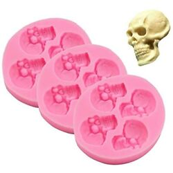 Chocolate Candy Molds, Halloween Skulls Silicone, Fondant For Cake Decoration Of