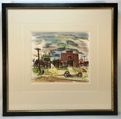 Henry Botkin 1896-1983 Watercolor Untitled Signed