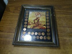 Lincoln Memorial Coins Collection Framed