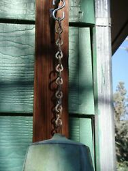 Arcosanti Soleri 9quot; Patina Replacement Hanging Chain for Large Bronze Wind Bell