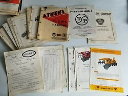 Large Lot Of Vintage Tractor Mower Plow Disc Sprayer Manuals