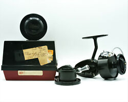 1969 Garcia Mitchell 301 Spinning Reel In Box With Extra Spool And Manual