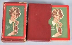Rare 1928 Coca Cola Playing Card Deck W/orig Boxes- 54 Cards Including Joker