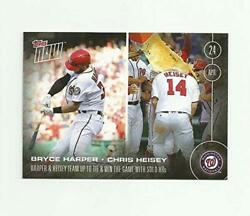 2016 Topps Now Bryce Harper Chris Heisey Washington Nationals 400