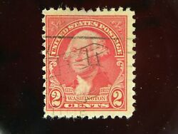 Rare George Washington 2 Cent Stamp Different Old Air Plane Cancellation