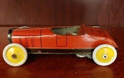 Antique 1920s Greppert Kelch Gandk 548 Made In Germany Tin Toy Litho Windup Car