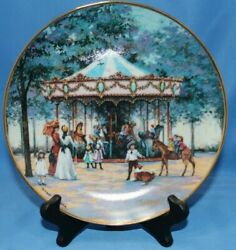 Limited Edition Sandi Lebron Carousel Memories 8 Plate With Stand