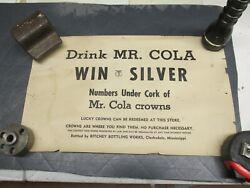 Mr Cola Paper Poster Advertising Sign Ritchey Bottling Works Clarksdale Ms