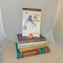 Native American Themed Books Lot Of 5 Titles Ritual Touching Fire Indian Speaks