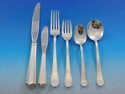 Fairfax By Gorham Sterling Silver Flatware Set 8 Service 53 Pieces Place Size