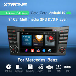 For Mercedes-benz W211 W219 7 Android 10 Car Stereo Dvd Gps Radio 8-core 4+64gb