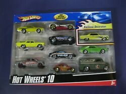 2009 Hot Wheels 10 Pack Toy Cars Exclusive Yellow 65 Malibu 70 Chevelle Wagon