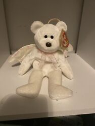 Ty Beanie Babies Halo 1998, Rare Brown Nose And Tag Errors.