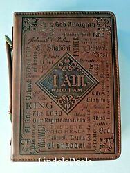 """Bible Cover Large 7"""" X 10 1/8"""" X 1 7/8"""" Names Of God Bible Cover"""