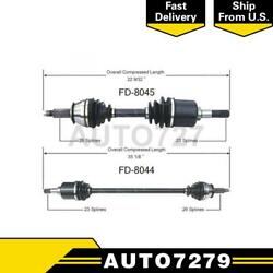 Trakmotive Front Left Front Right 2pcs Cv Axle Shaft For Ford Escort Exp Tempo