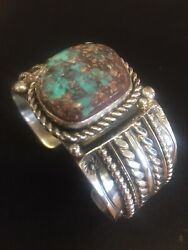 Sterling Silver And Bisbee Turquoise Bracelet By Jeanette Dale
