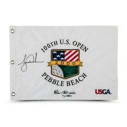Tiger Woods Signed Autographed 2000 U.s. Open Pin Flag Wire-to-wire /500 Uda Is