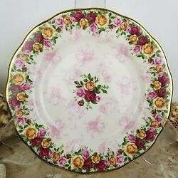 Royal Albert Old Country Roses Peach Damask Salad Plate 2002 Gold Trim