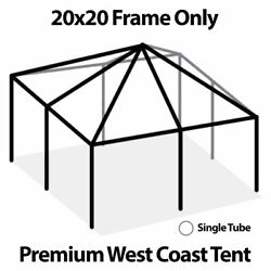 20x20and039 West Coast Tent Frame Only Commercial Anodized Aluminum Replacement Frame