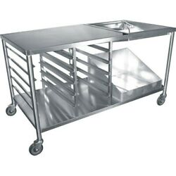 New 66 Donut Glazing Icing Prep Table All Stainless Steel Cart Gsw Dn-tbl 3895