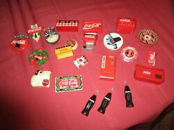 Large Lot Of Vintage Coca Cola Refrigerator Magnets Preowned
