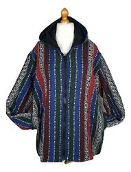 Men Big And Tall Fleece Lined Multicolor Brushed Look Festival Hoodie Xxl/xxxl
