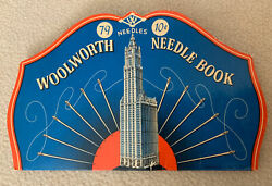 Vintage Woolworth Needle Book Collectible Sewing Advertising Promo Card Stock