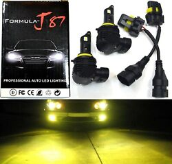 Led Kit M10 100w H10 9145 3000k Yellow Two Bulb Fog Light Replacement Upgrade Oe