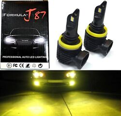 Led Kit M10 100w H11 3000k Yellow Two Bulb Fog Light Replacement Upgrade Lamp Oe