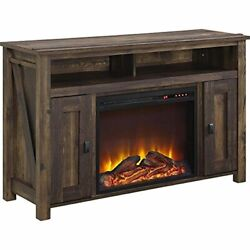 Ameriwood Home Farmington Electric Fireplace Tv Console For Tvs Up To 50, Rusti