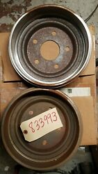 Cushman Genuine Parts Brake Drums Lot Of 2 Part 833993 And Master Cylinder