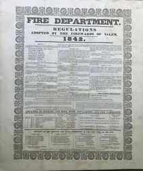 Fire Department Regulations Adopted By The Firewards Of Salem 1842