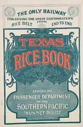 Texas Rice Book Issued By Passenger Department Of The Southern Pacific 'sunset