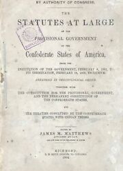James M Matthews / Statutes At Large Of The Provisional Government 1864