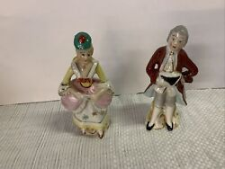 Vintage Made In Occupied Japan Figurines Victorian Man And Woman