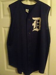 Vintage Authentic Detroit Tigers Warm Up Baseball 14 Jersey Tank Top. Augusta