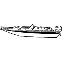 Wide Bass Boat Cover, 17' 6andquot X 90andquot - Seachoice