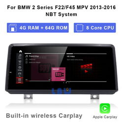 Android 10.0 Car Gps Video 8-core Wireless Carplay For Bmw 2 Series F22 F45 Mpv
