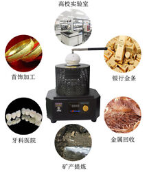 Electric Mid Frequency Metal Melting Furnace High Temperature Melting Oven 220v