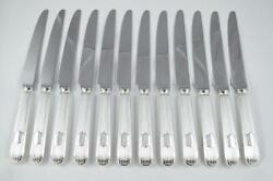 New Set Of 12 Sheffield Sterling Silver Dinner Knives Reed And Shield Pattern 2021
