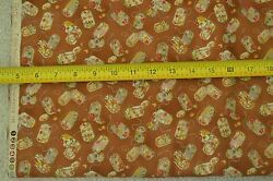 By 1/2 Yd, Japanese Lanterns On Rusty-brown Quilt Cotton/quilt Gate/kimono,m6396