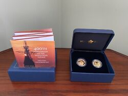 Royal Mint 400th Anniversary Mayflower Two-coin Gold Proof Set 500 Released