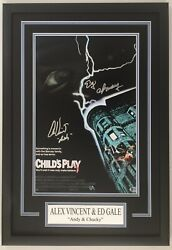 Alex Vincent And Ed Gale Signed Autographed Childs Play 12x18 Movie Display - Bas