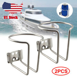 Boat Stainless Steel Drink Cup Holder Can Bottle For Marine Yacht Truck Rv-2pack