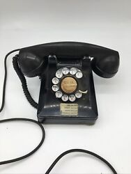 Vintage Bell System Western Electric Co. Rotary Dial Desk Phone F1 1940's
