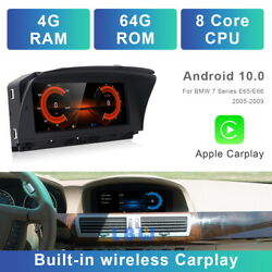 8-core Android 10 Car Gps Wireless Carplay Bt For Bmw 7 Series E65 E66 2003 2004