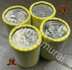 4 Rolls Of Half Dollars - Unsearched - Fed Sealed- Possible 40 90 Silver Coins