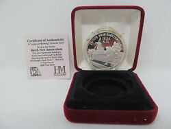 Dutch New Amsterdam 1 Troy Ounce .999 Pure Silver Coin Bowling Museum St. Louis