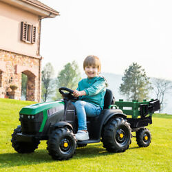 Electric Cars For Kids Ride On Tractor Agricultural Vehicle Toy With Rear Bucket